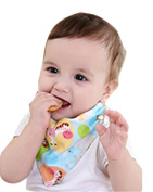 BarRan Classic Cute Baby Children Toddler Cotton Two Side Waterproof Feeding Apron Bibs