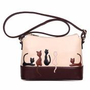 Women Shoulder Bag, Rcool Women Cat Rabbit Leather Shoulder Bag Cross Body Bag Purse Handbag Messenger Bag