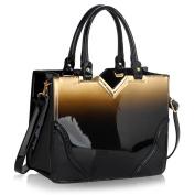 Womens Handbags Ladies Designer Faux Leather Stylish Tote Shoulder Bag