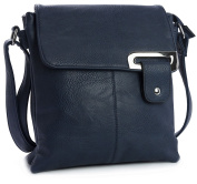 Womens Medium Multi Pocket Compartment Trendy Messenger Cross Body Shoulder Bag