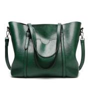 EssVita Women Handbags Tote Shoulder Bags for Women Large PU Leather Top Handle Satchel Messenger Bag Handbag Green