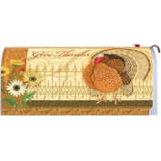 Elegant Turkey Give Thanks 1680MM Magnetic Mailbox Cover Wrap