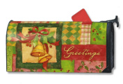 Patchwork Bells Christmas Magnetic Mailbox Cover