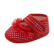 NEEDRA Infant Baby Dot Lace Girls Soft Sole Prewalker Warm Casual Flats Shoes