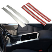 Alamor Chrome Drink Cup Holders Centre Console Panel Cover Fit For Volvo Xc60 S60 V60