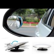 Zantec 2 PCS Blind Spot Mirror Round HD Convex Rear View Mirror
