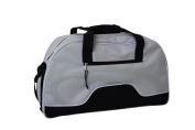 Amaro Sports Bag with Wet Pocket – 41 Litres Light Grey/Black
