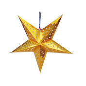 ALCYONEUS 30cm Bling Glitter Five Star Hanging Home Party Decoration Christams Tree Ornament