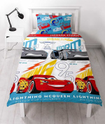 Official Disney Cars Movie Single Quilt Cover Set