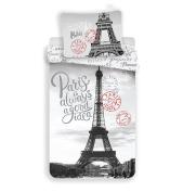 Jerry Fabrics Children's Paris Duvet Cover and Pillow Case Bedding Comforter Set, Multi-Colour