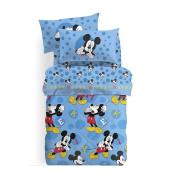 Single Quilt Mis.170 x 265 Microfibre Mickey mouse-caleffi