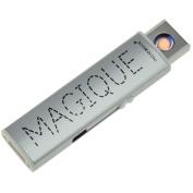 Impact Paris 31267 Metal USB Lighter, Silver, 8 x 0.8 x 2.2 cm