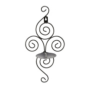 Europe Style Handmade Iron Hanging Wall Candlestick Candle Holder Sconce Home Decoration