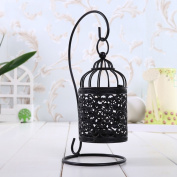 FEIFEI Candlestick Iron Art Suspension Openwork Pattern Household Items Removable