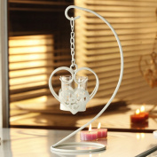 FEIFEI Candlestick Iron Art Heart-shaped Windproof White Romantic Household Items