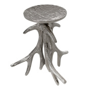 Burkina Home Decor Candlestick Branches, Large, Metal, Silver, 13 x 11 x 20 cm