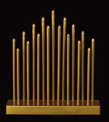 Gold 17 Warm Light LEDs 29cm Tall LED Candle Bridge with Timer
