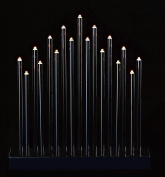 Black 17 Warm Light LEDs 29cm Tall LED Candle Bridge with Timer