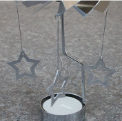 Rotating candle stand,Aluminium Modern simple Christmas decorations Creative crafts Home decoration Wedding decorations Lighting Birthday gifts-B 8x12cm