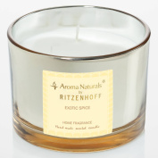Ritzenhoff Aroma Naturals Luxury Scented Candle, Glass, Black, Yellow (11 x 11 x 8 cm
