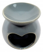 Fragance Oil Burner Heart greyTealight Holder Love