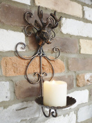 Wall Mounted Stag Head Candle Holder Shabby Chic Vintage Style Home Gift