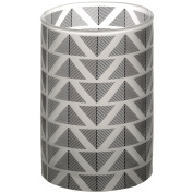Grey And White Large Chevron Tealight Cylinder Candle Holder