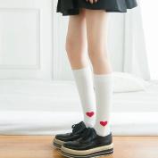 Women Socks Winter,Mamum Women Heart Heart Socks Ladies Girls Cotton Warm Soft Sox Grey/ Black/ White