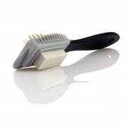 TelMo® Suede Raulederbürste Abrasive Cleaning Brush with Rubber Besteckung Wire and Brass