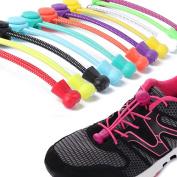Hunpta No Tie Shoelaces Elastic Lock Shoe Laces Running Jogging Canvas Sneakers Trainer