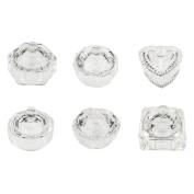 MSmask Glass Dappen Bowl Cup Transparent Dish Crystal Clear Glass Nail Art Acrylic Liquid Powder Tools