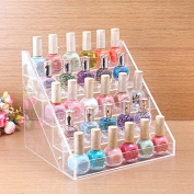MSmask Clear Acrylic Beauty Makeup Drop Shipping Nail Polish Storage Organiser Rack Display Stand Holder 65 Bottl