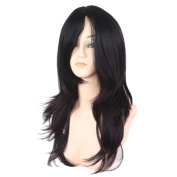 Women's Long Curly Cosplay Wig for Halloween Daily Wearing with Cap Gradual Colour