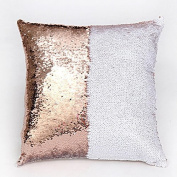 COFCO Mermaid Pillow Cases, DIY Two Tate Glitter Sequins Throw Pillows Decorative Cushiat Caboves