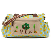 Pink Lining Twins Baby Changing Nappy Bag - Sunflowers
