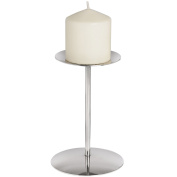 Nickel Candle Stand Round Home Decor