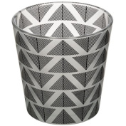 Grey And White Geometric Tealight Candle Holder Home Decor