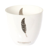 Glass Votive Candles holder - Silver Feather