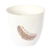 Glass Votive Candles holder - Feather with Love