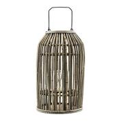 HOUSE DOCTOR - photophore lanterne bois rotin naturel house doctor ova Ln0091