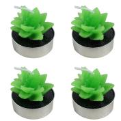 Dosige 4 Pcs/Box Cute Cactus Candles/ Tea Table Lights Wedding Birthday Decoration
