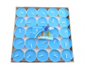 Feel Good Blue outflower 50 Candles Smokeless Candles Can Burn 2 Hours Bar Candles Tea Light Candle Holder
