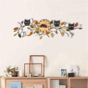 Arabic Numerals American Retro Wall Clock Creative Iron Craft Living Room Bedroom 3D Decorative Wall-mounted Clock