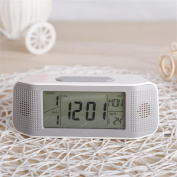 Alarm Clocks Digital Alarm Clock Student Clock Large LCD Display Snooze Electronic Kids Clock Light Sensor Nightlight Office Table Clock (No Containing Number 7 battery) , 1