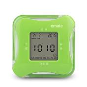 OUMAIG Creative Luminous Mute Student Bedside Clock Flip Clock Countdown Electronic Clock For Children,Light Green