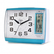 OUMAIG Chinese Creative Student Small Alarm Clock Night Lamp Clock Calendar Bedroom Living Room Mute Bedside Clock Electronic Alarm Watch,Blue