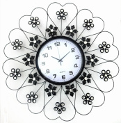 Continental Style Round Iron Decorative Wall Clock,A