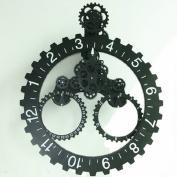 Continental Living Room Gear Bell Triangle Hanging Gear Clock Calendar Gear Mechanical Clock,B