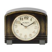 Wm. Widdop Traditional Wooden Arched Top Case Mantel Quartz Clock