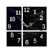 Creative Wall Clocks Home Fashion Mirror Stickers Decorated Wall Clocks,Black